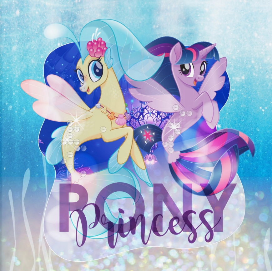 Princess Skystar and princess Twilight Sparkle as mermaids