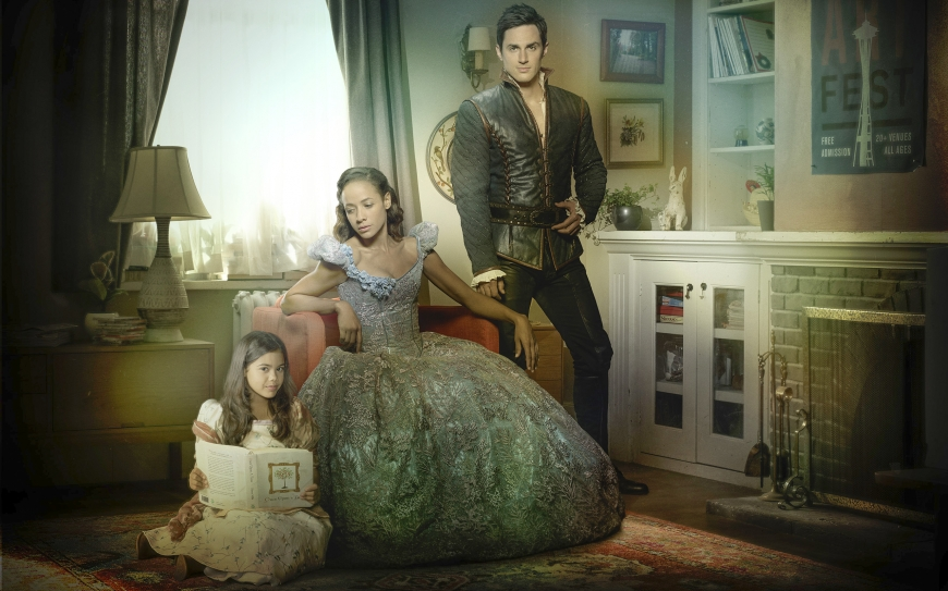 Once Upon a Time season 7 Wallpaper with Lucy, Henry and Cinderella