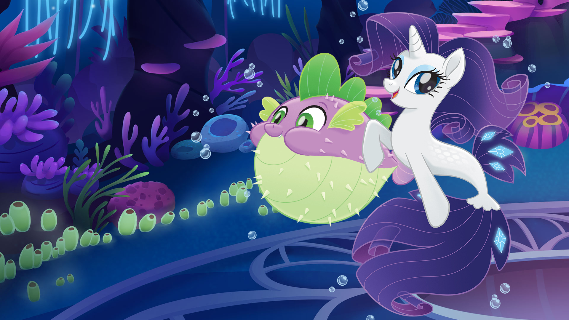 My Little Pony The Movie Wallpaper Mermaid Rarity And Spike