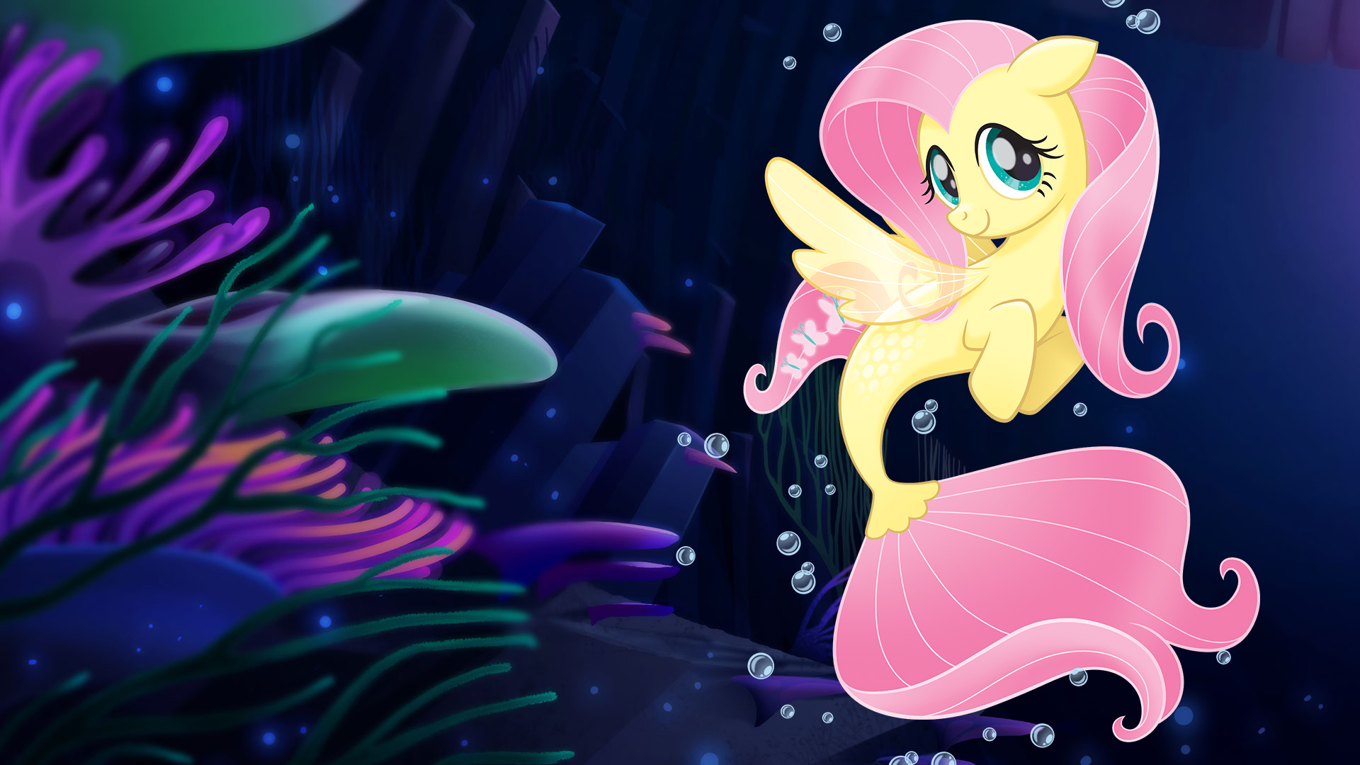 My Little Pony The Movie Wallpaper Mermaid Fluttershy