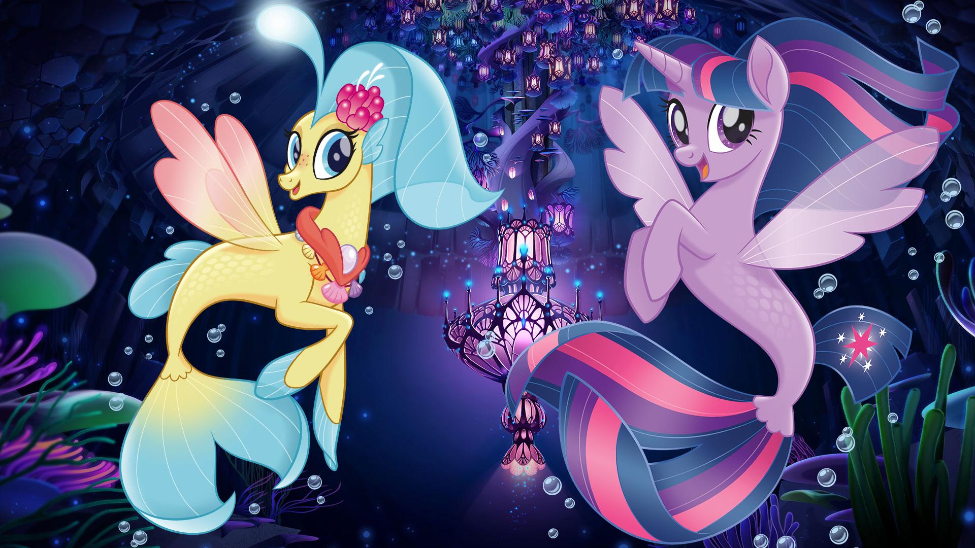 My Little Pony The Movie Wallpaper Mermaid Princess Sky Star And Twilight Sparkle