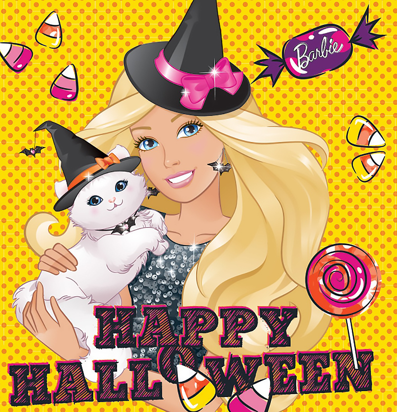 Halloween Barbie art