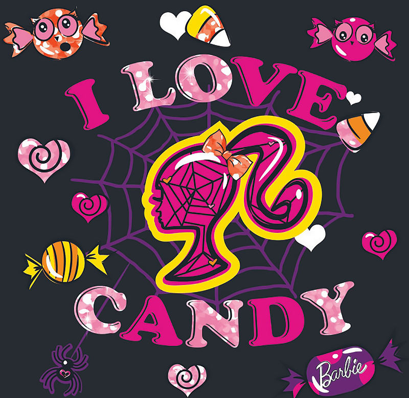 I love candy card Barbie