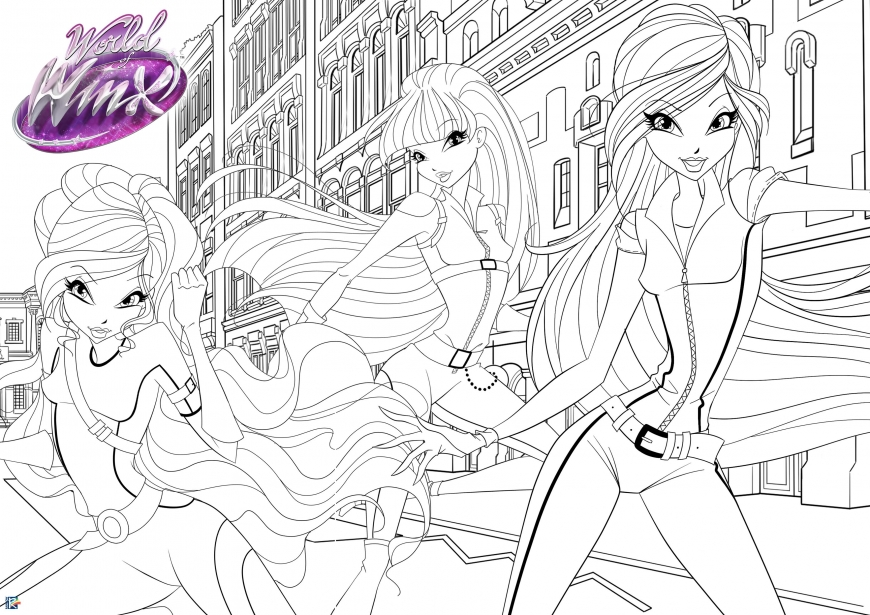 World of Winx coloring poster