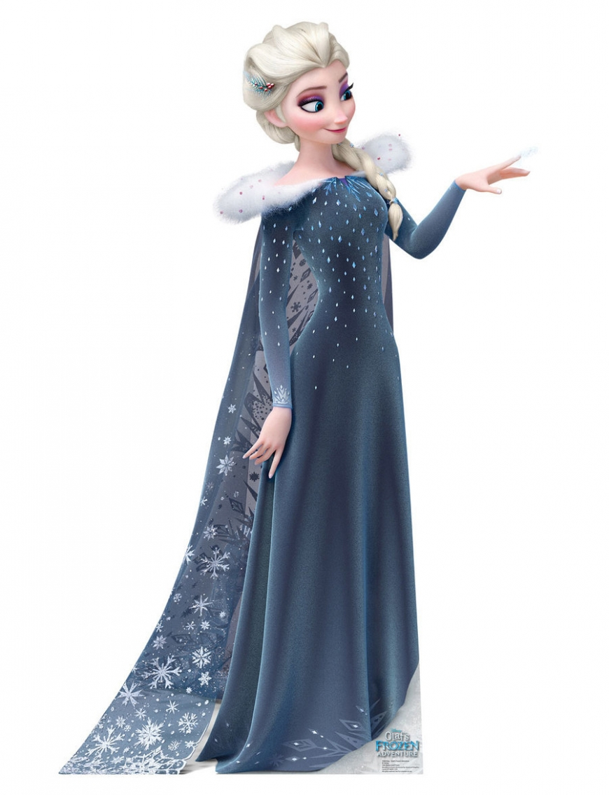 Big picture of Elsa from Olaf's Frozen Adventure in her winter holiday dress