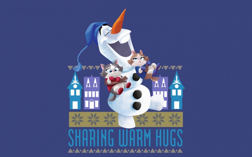 Olaf's Frozen Adventure wallpaper - Olaf with kittens