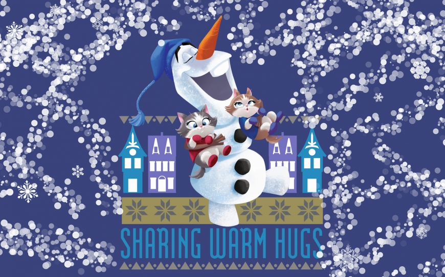 Olaf with kittens in socks wallpaper - Olaf's Frozen Adventure