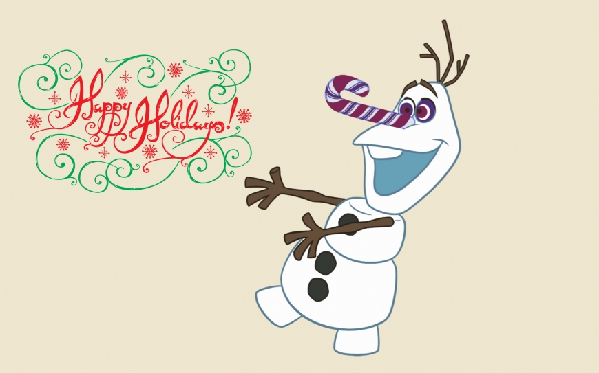 Olaf's Frozen Adventure wallpaper - Olaf with christmas candy
