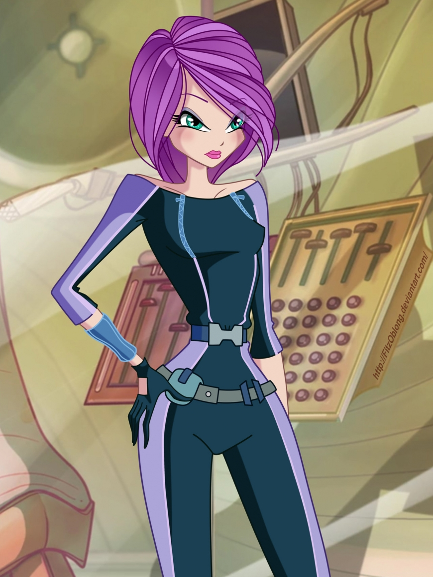 Tecna from World of Winx in spy outfit