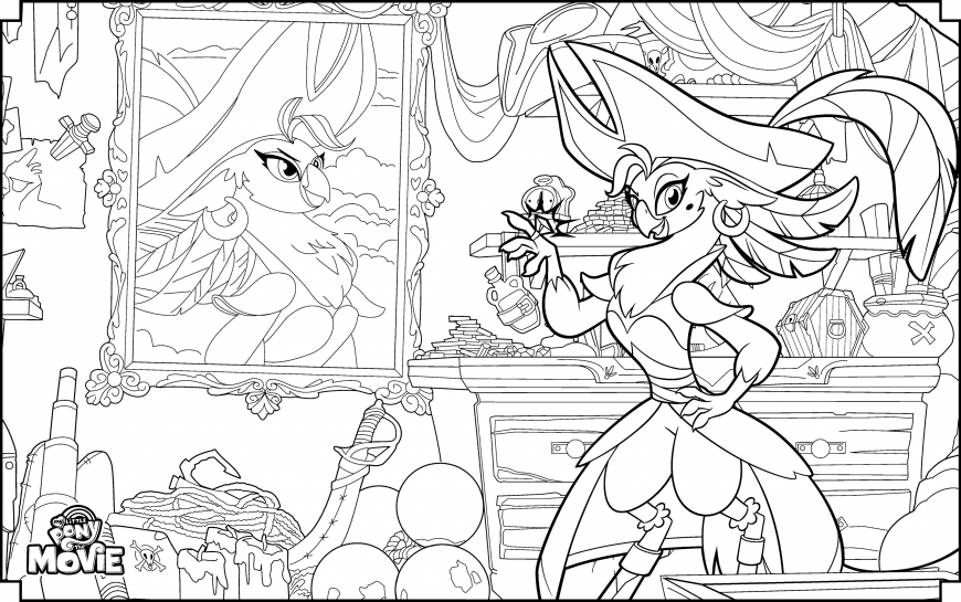 My Little Pony The Movie coloring page with Captain Celaeno