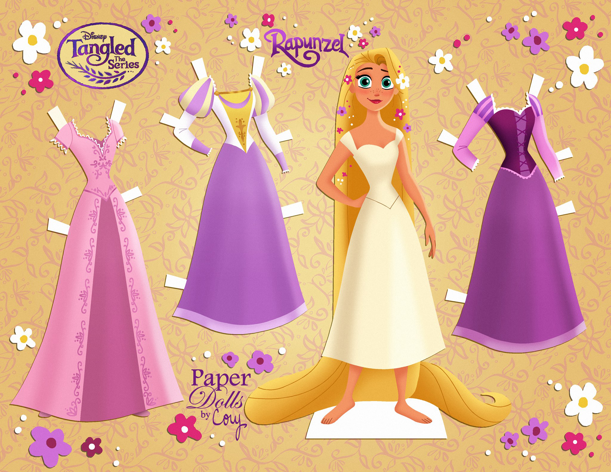 Tangled: The Series - Cassandra and Rapunzel paper dolls ...