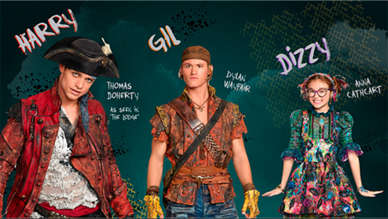 Disney Descendants 2 Dizzy, Harry and Gil