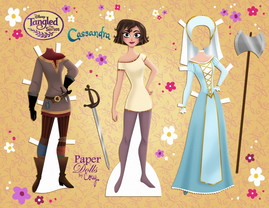 Tangled the series Cassandra paper doll