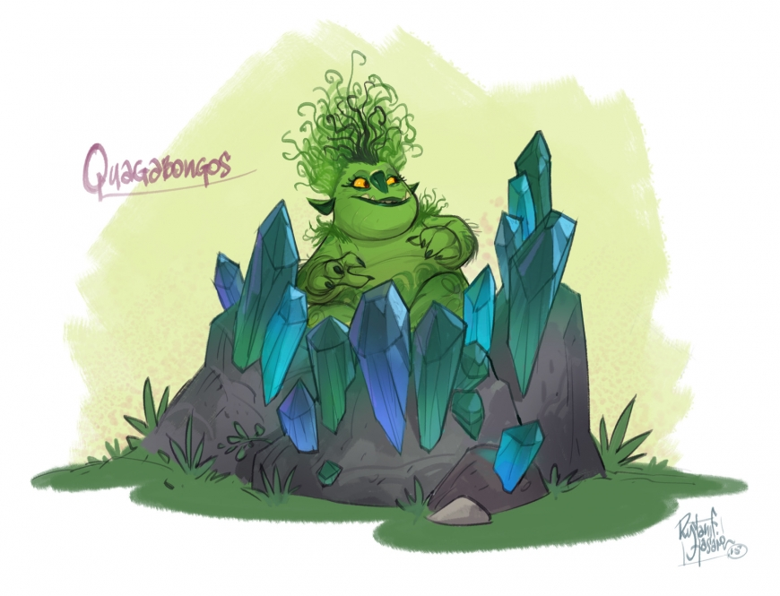 Trollhunters Sketches, Quagawamps' Swamp