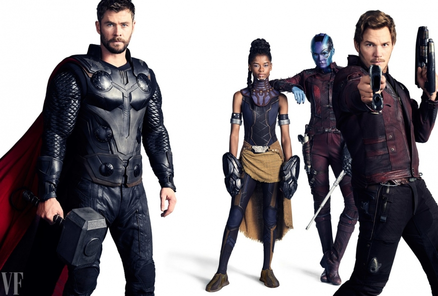 Marvel Universe Vanity Fair heroes photo shoot: Avengers, Guardians of the Galaxy, Doctor Strange, Black Panther and more