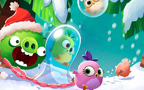 Angry Birds winter phone wallpapers for holidays