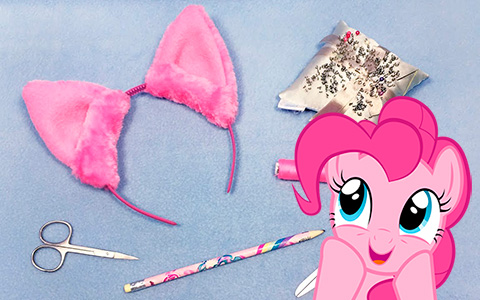 DIY video how to make My Little Pony ears on rim (headband)