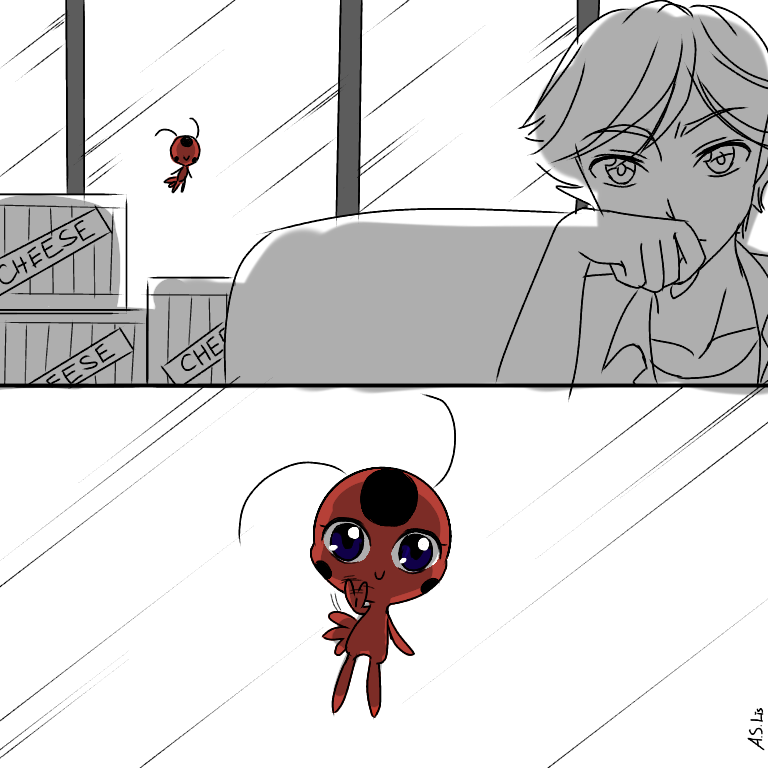 Plagg has to keep secret of Ladybug