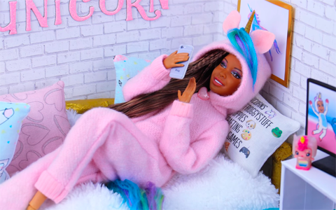 Doll crafts: How to make Doll UNICORN Onesie