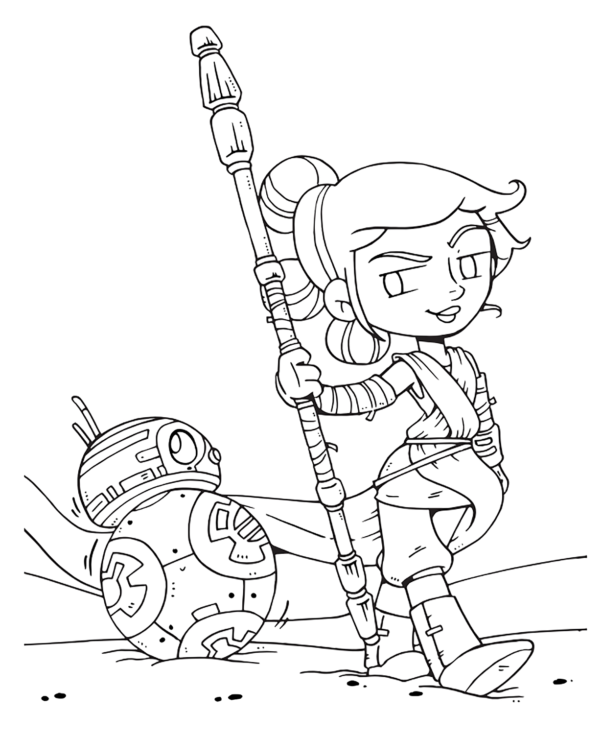 Captivating Star Wars: The Last Jedi Cute Coloring Pages