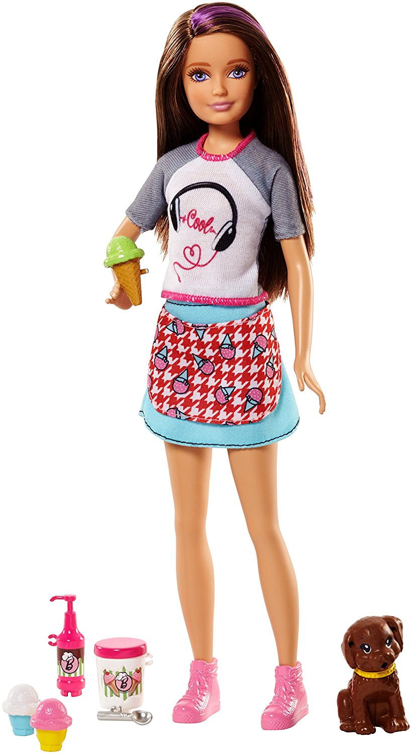 Barbie Sister Skipper Doll with ice cream