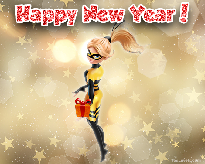 Miraculous Ladybug New Year cards - pictures