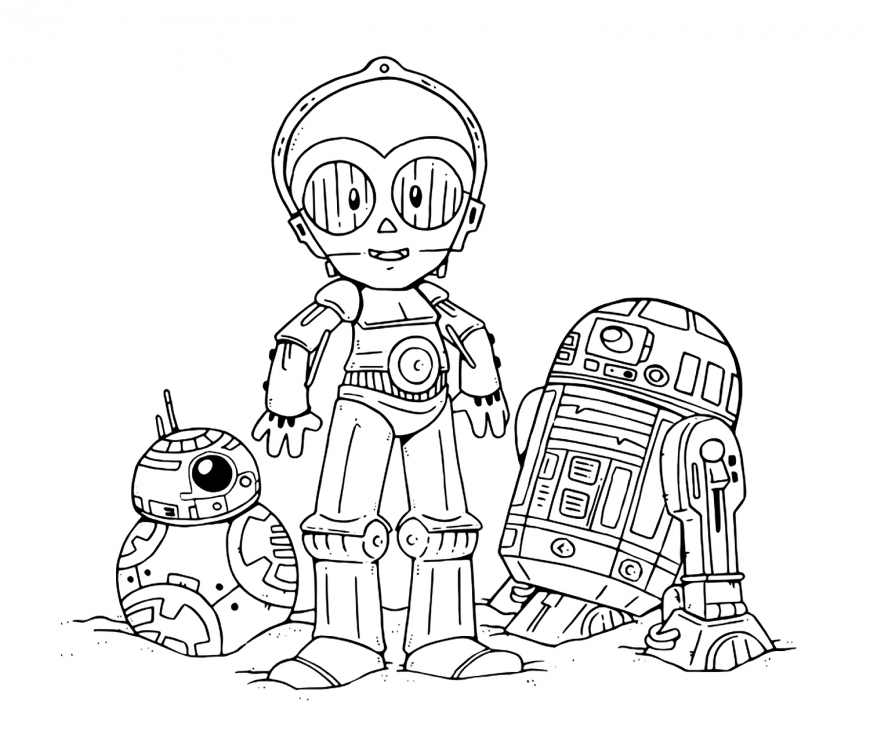 Star Wars: The Last Jedi cute coloring pages