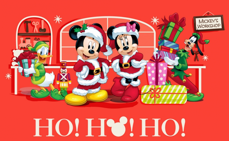 Mickey Mouse christmas greeting
