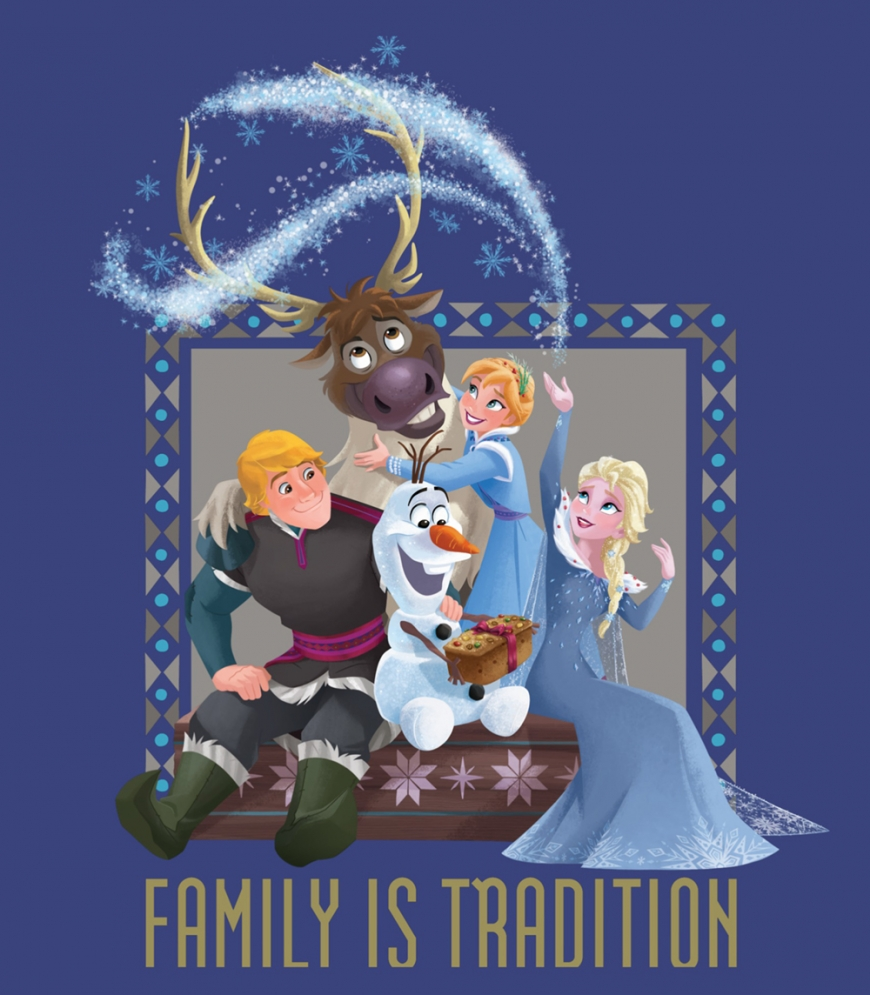 Olaf's frozen adventure christmas card holiday greeting