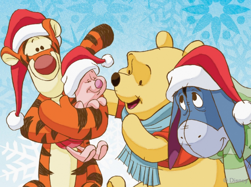Winnie the Pooh christmas card picture
