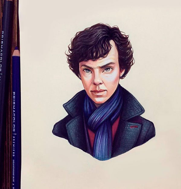 Actor Benedict Cumberbatch as toon