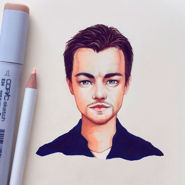 Actor Leonardo DiCaprio as toon