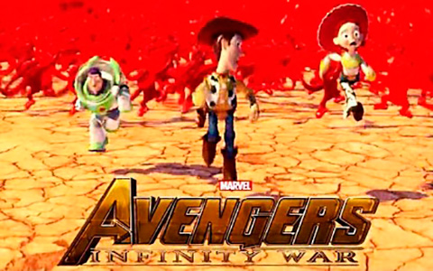 Avengers: Infinity War trailer with Disney and Pixar characters