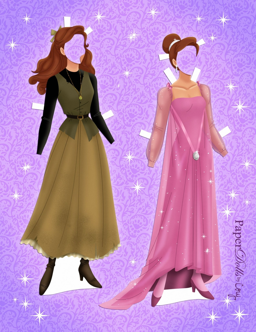 Anastasia paper doll with clothes