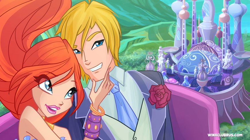 Winx Club love Bloom and Sky wallpaper
