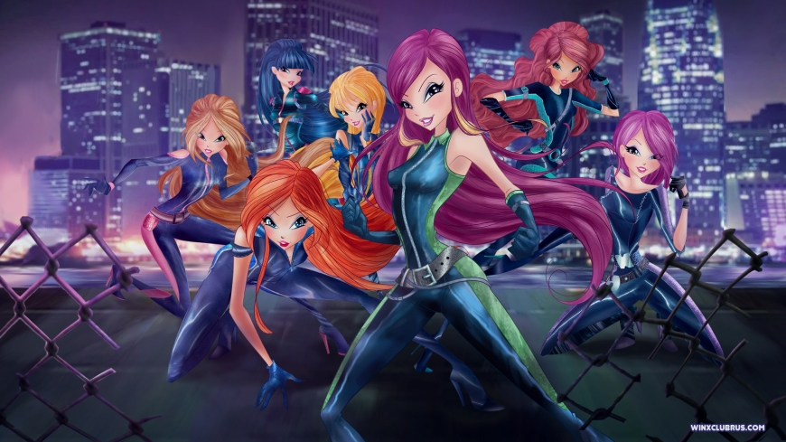 Winx Club with Roxy world of winx spies wallpaper