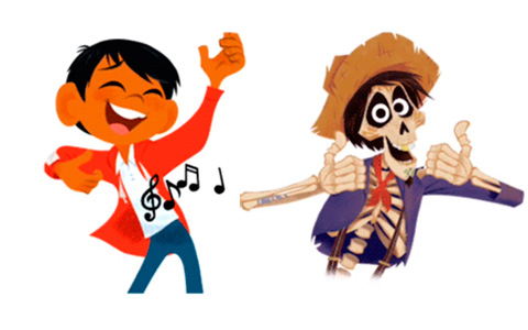 Animated gifs - stickers with Disney/Pixar Coco characters