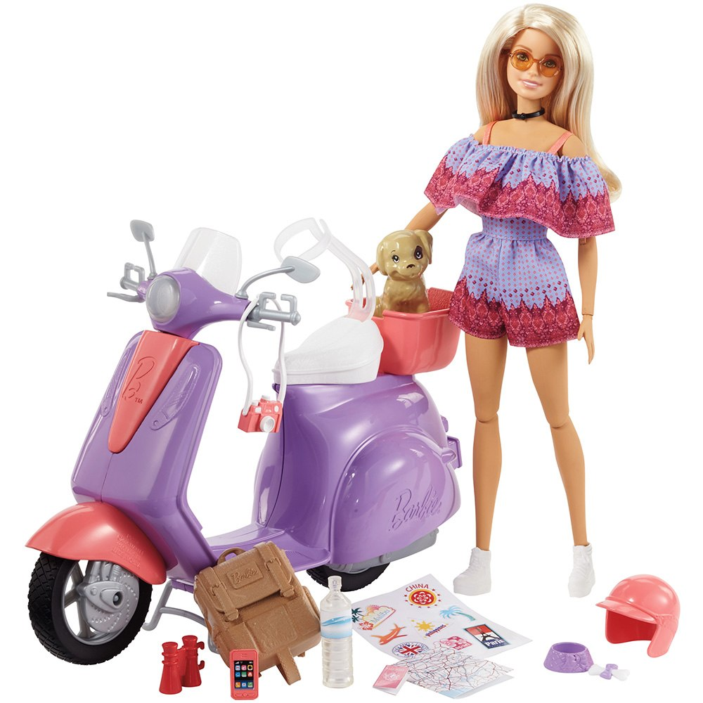 New 2018 Barbie Fashionistas Pink Passport And Jurassic