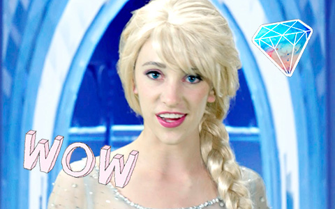 "Disney Princess in Real Life: ""Frozen"" Elsa and Let it Go song"