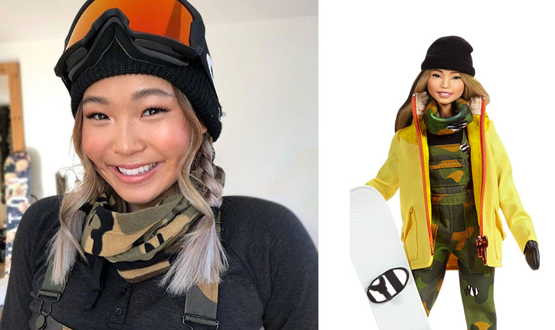 Chloe Kim Barbie doll