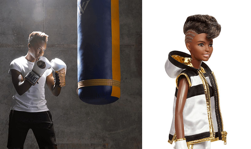 Nicola Adams Barbie doll