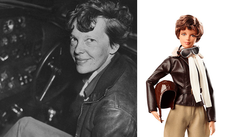 Amelia Earhart Barbie doll