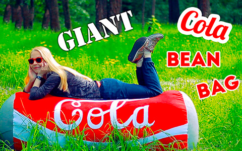 How to make a giant Cola can bean bag chair