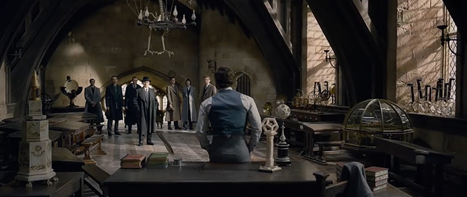 Defence Against the Dark Arts room Fantastic Beasts 2: The Crimes of Grindelwald