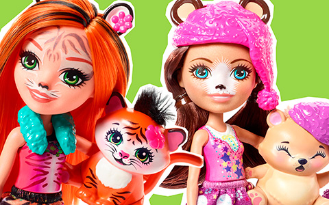 New upcoming Enchantimals dolls: Wolf, Tiger, Swan, Polar Bear, big dolls and cute playsets