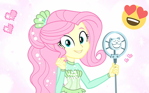 "New romantic outfit for Fluttershy in My Little Pony Equestria Girls short ""So Much More to Me"""
