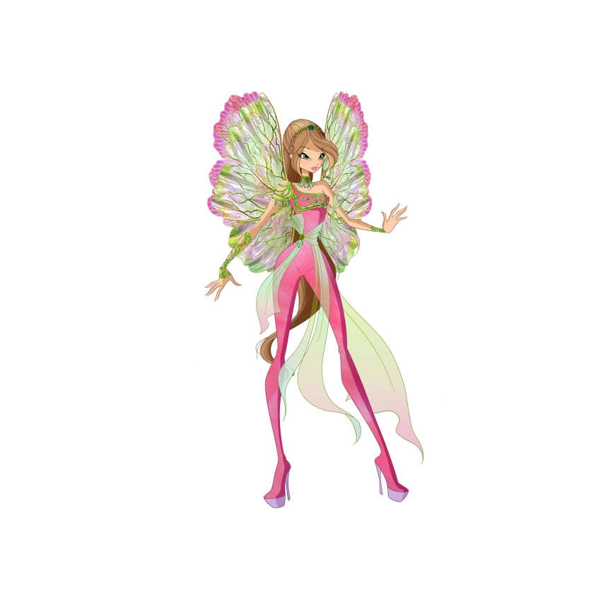 World of Winx picture of Dreamix Flora transformation