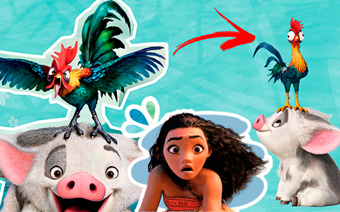 Why Hei Hei from Moana is so different on old official pictures?