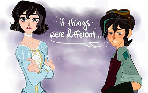 Cutest comics with Varian and Cassandra from Tangled the Series