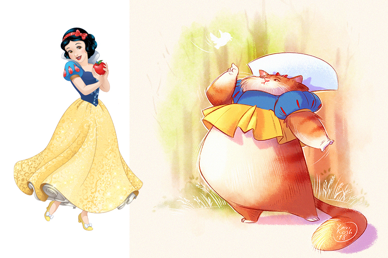 If Disney Princess were cats Snow White